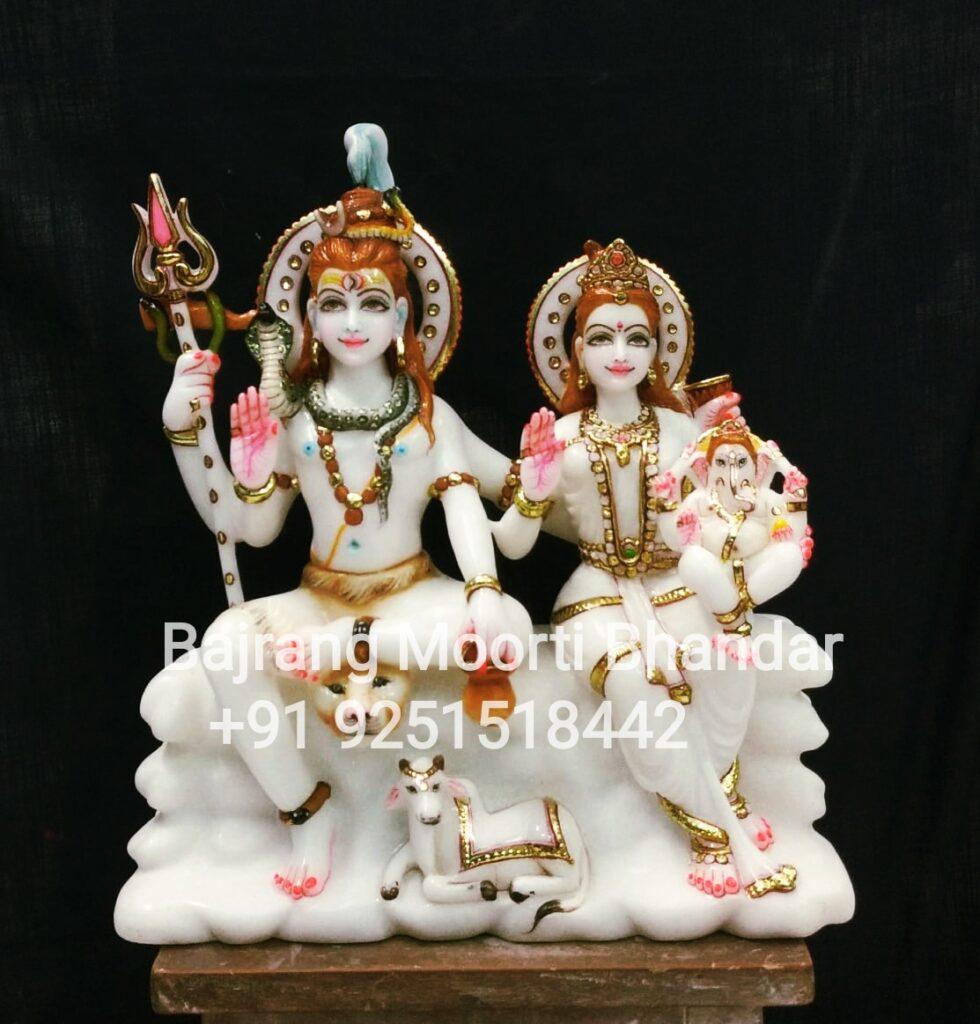 Marble Shiv Parvati Murti