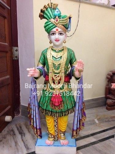 marble Swaminarayan Idol Murti in Statnding Posture
