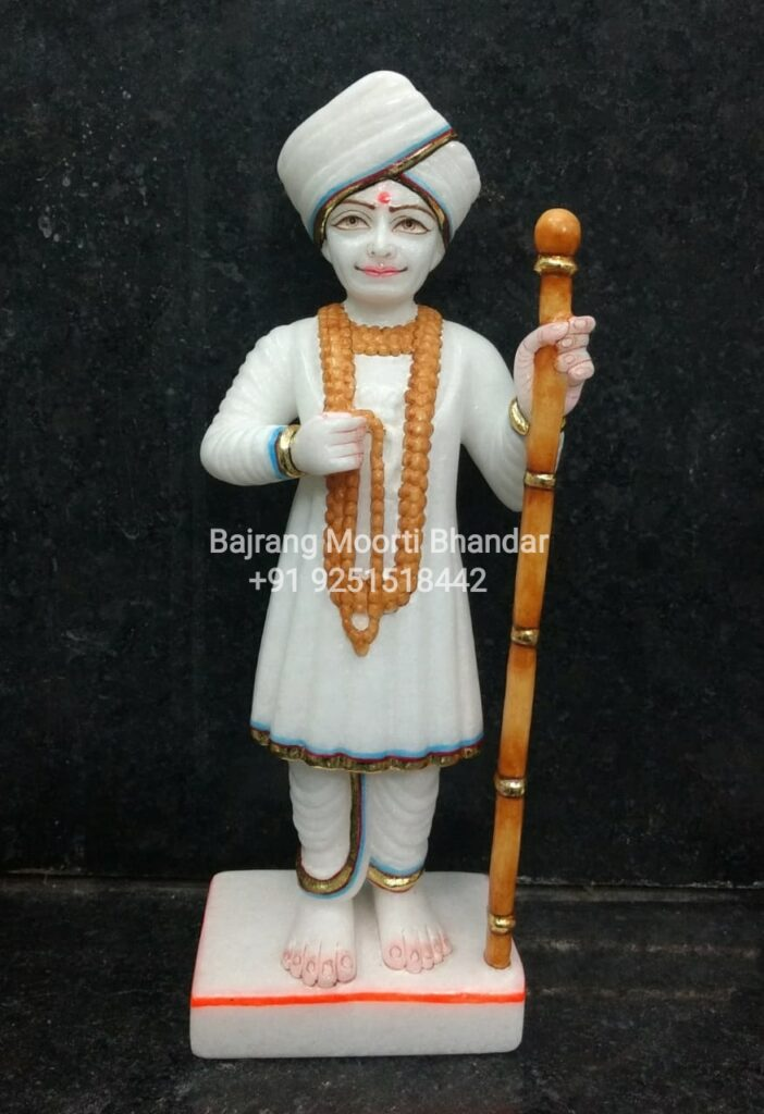 Marble Jalaram Bapa Murti Statue Idol