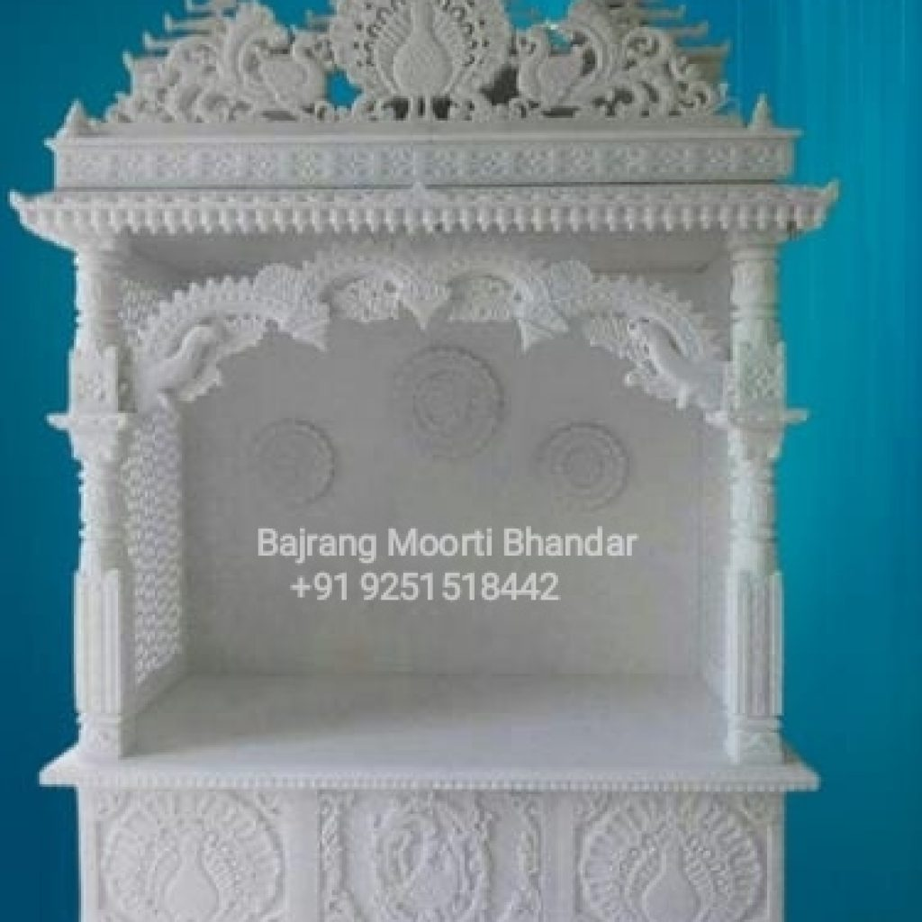 Pure White Marble temple At Lower cost