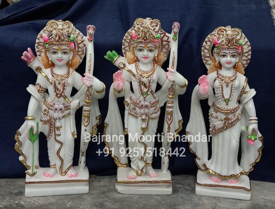 Ram Darbar Statue Moorti In pure White Marble