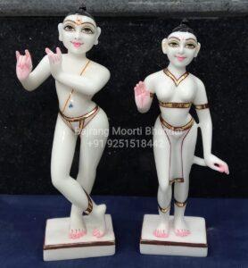 pure marble iskcon radha krishna murti from jaipur and vrindavan and usa murti marble