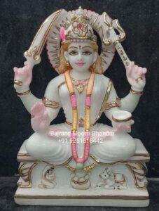 Santoshi Mata Statue in Marble