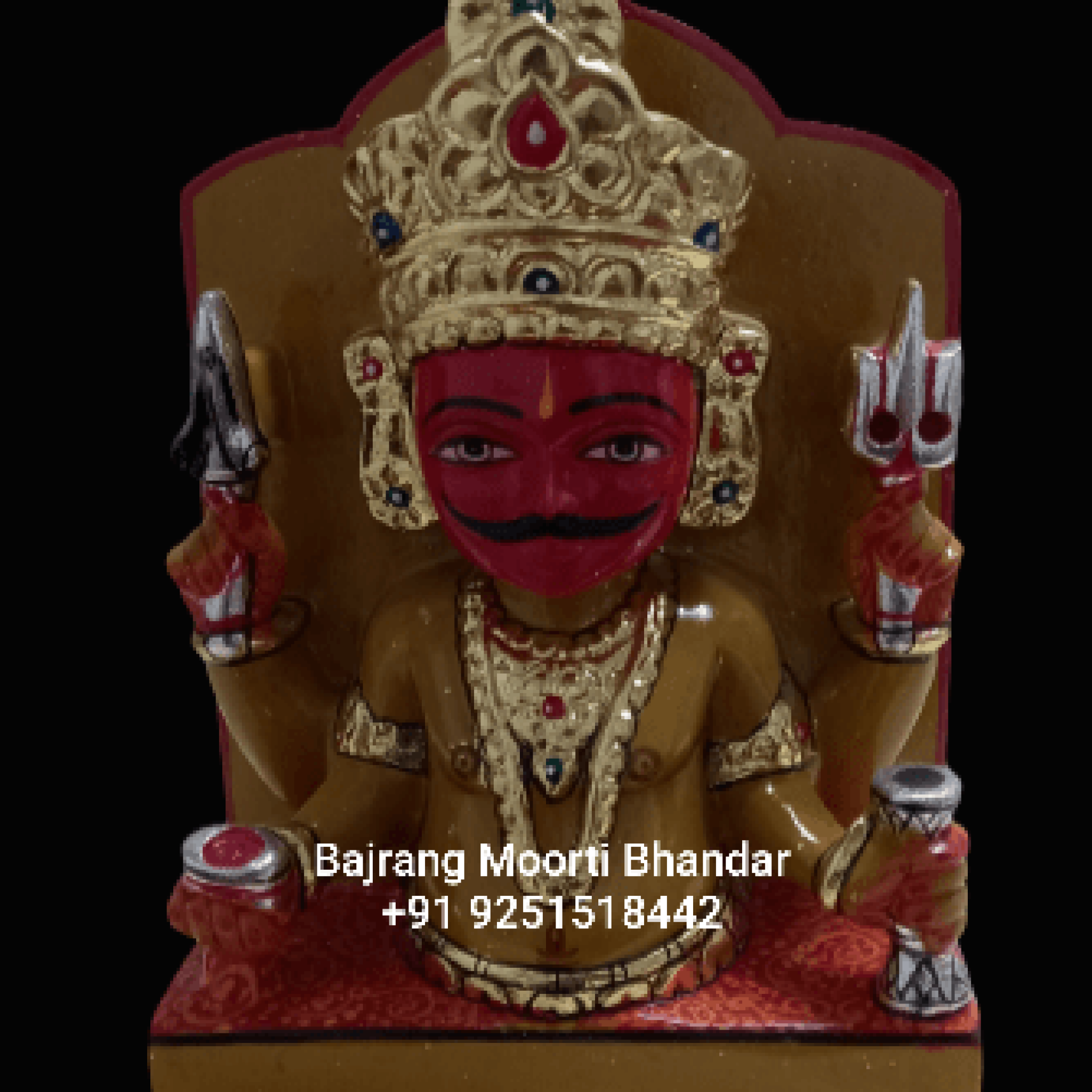 Sandstone Nakoda Bhairav Statue Marble