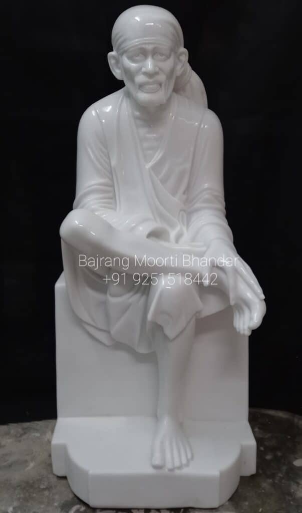 Marble Sai baba statue in pure white marble