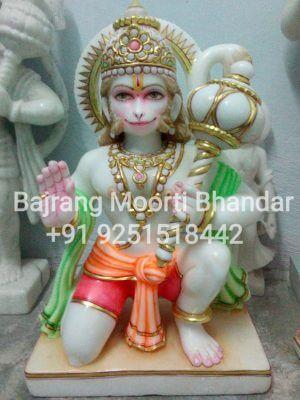 marble hanuman moorti statue 12inch