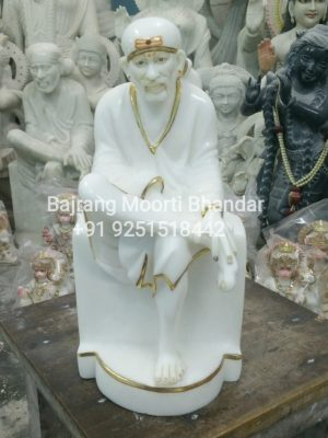 Marble Sai baba Statue in 12inch