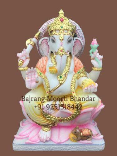small Ganpati marble Murti for home