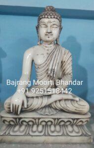 Marble Buddha idol in 12inch