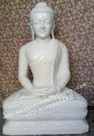 3ft marble buddha-statue
