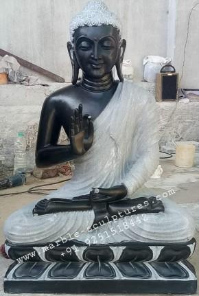 Big Marble Buddha Statu