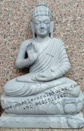 Black Buddha Bhagwan Statue