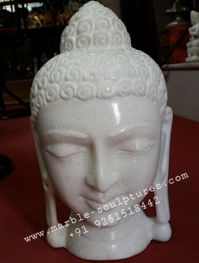 face of marble buddha statue