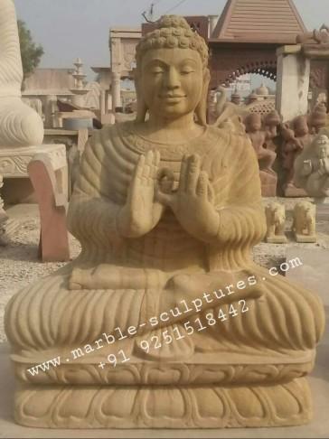 big marble sandstone buddha