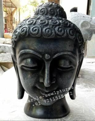 Black Buddha Statue face