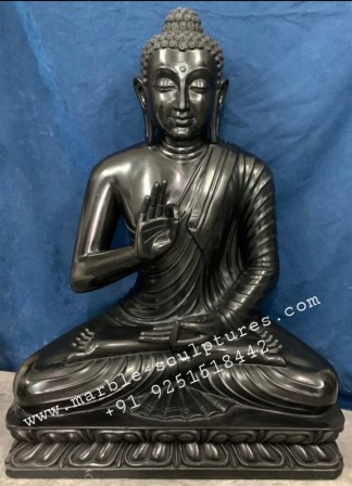 Black Buddha Statue for Garden