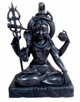 black shiva statue