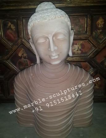 sandstone buddha statue face