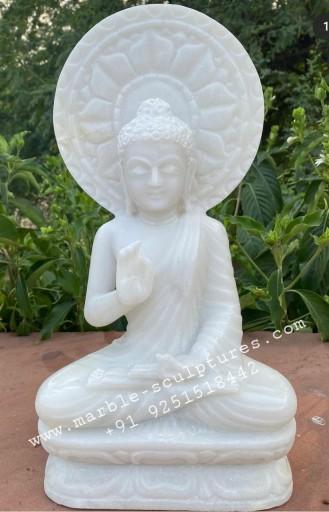 small marble buddha statue