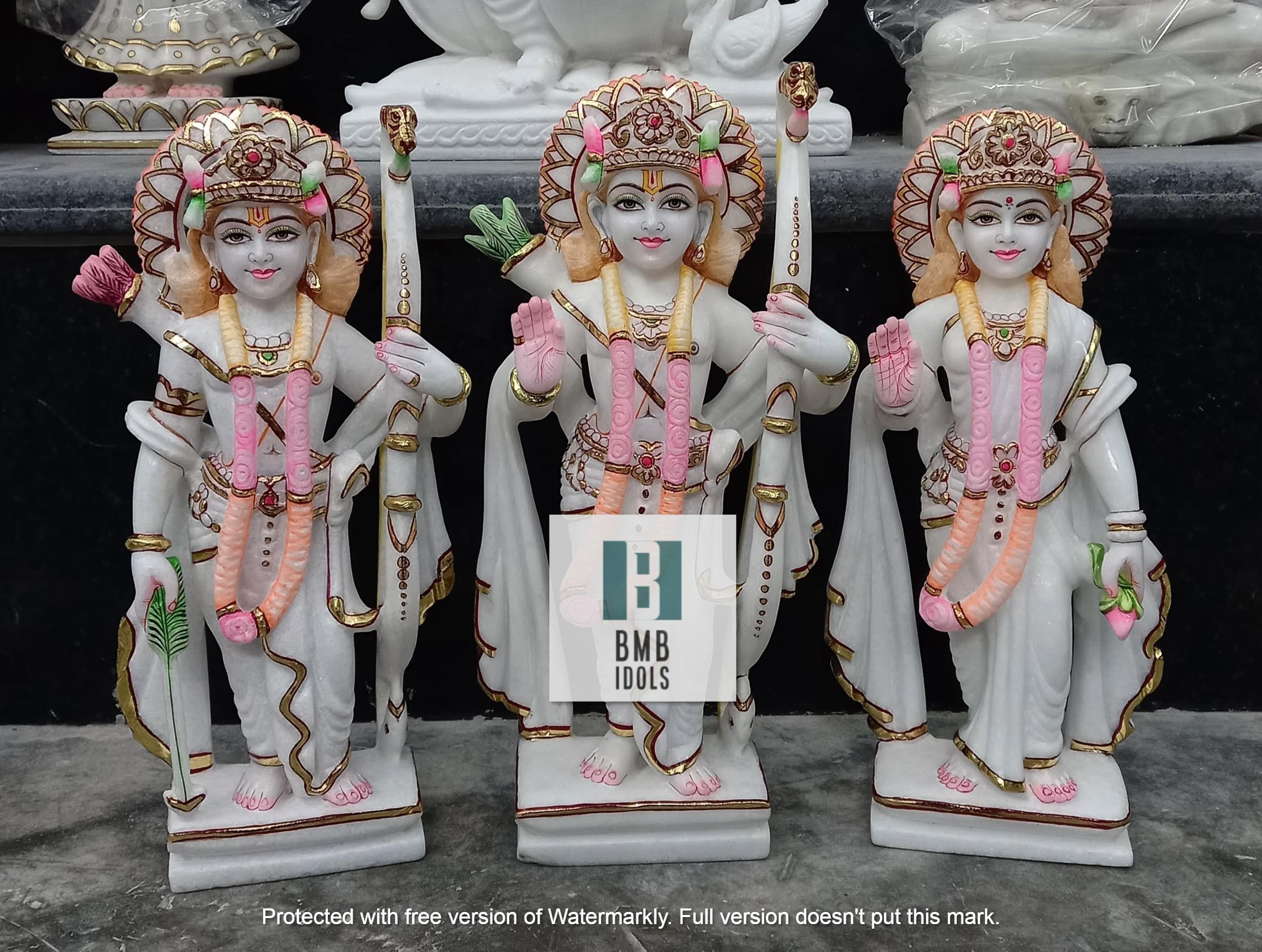 1.5ft Marble Ram Darbar Statue