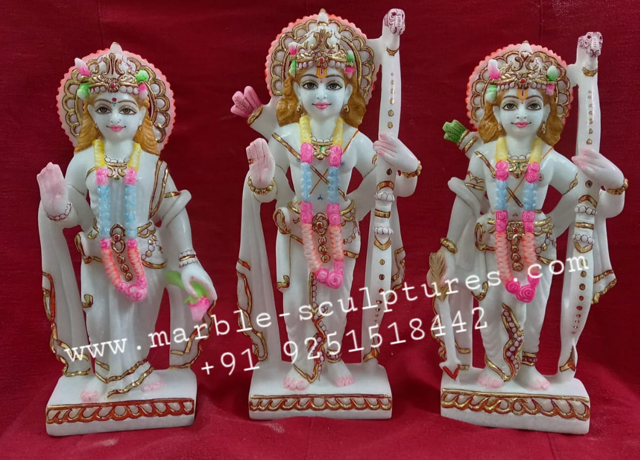 small marble ram darbar statue