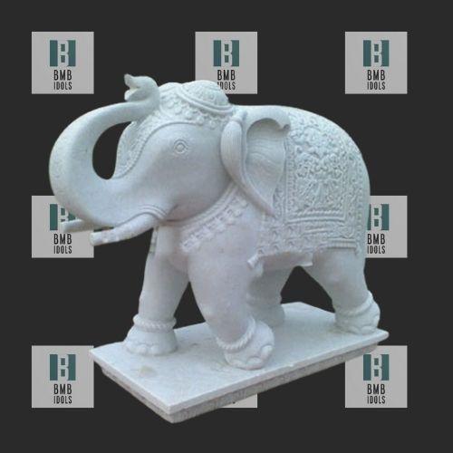 Big White Elephant Statue