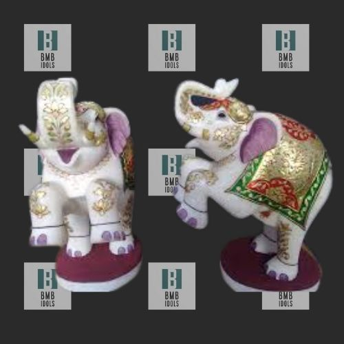 small marble elephant statue