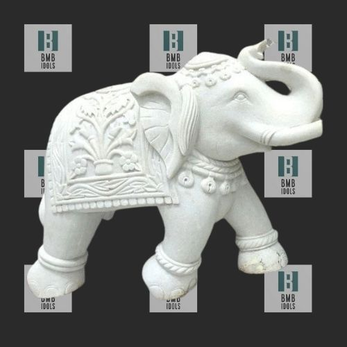 small marble elephant statues