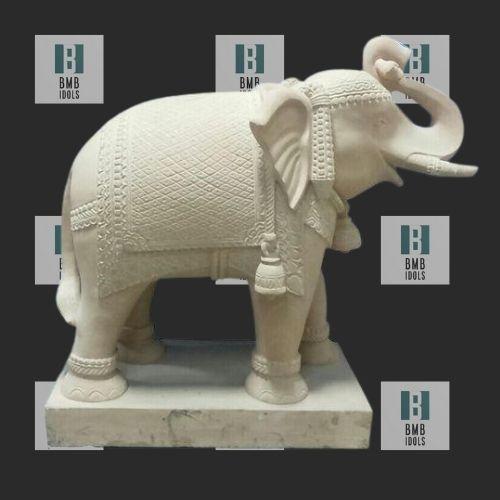 yellow sandstone elephant statue