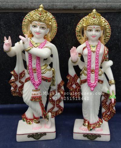 12inch marble Radha Krishna Murti