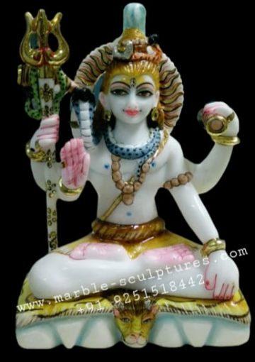 12inch marble shiva statue