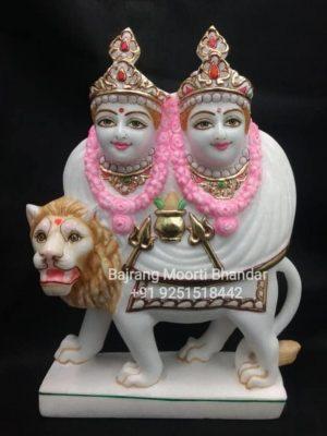 Marble Chamunda Mata Statue