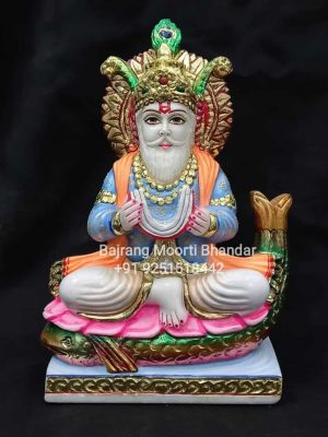 Marble Full Painted Jhulelal Statue