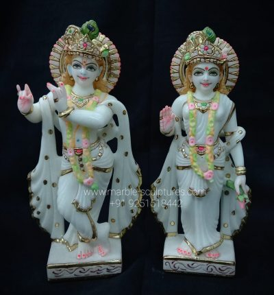 1feet Marble Radha Krishna Murti