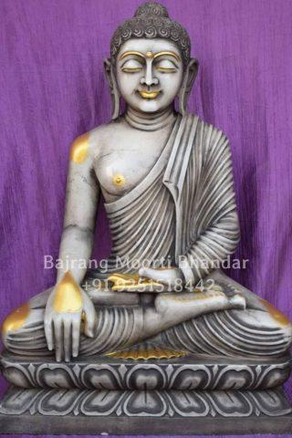 Antique black buddha statue for Home
