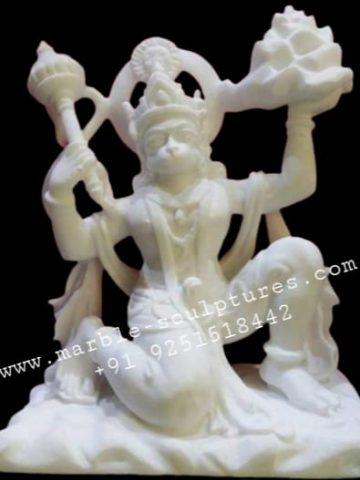 Beautiful Hanuman Marble Statue