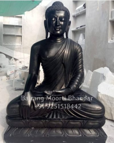 This is Black stone buddha Statue For Garden