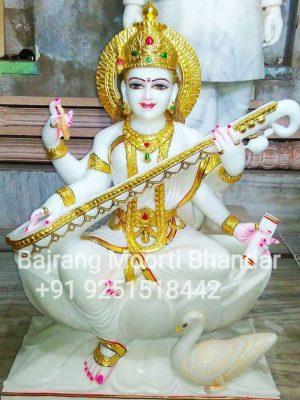 Marble Sarswati mata Idol