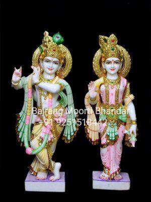 Radha Krishna Statue Murti Marble