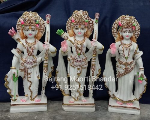 Ram Darbar Statue Moorti In pure White Marble