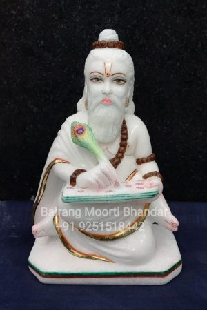 Valmiki Ji Moorti Statue in pure white marble