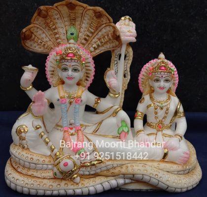 Marble Vishnu Laxmi Statue( Shrees Saiyan)