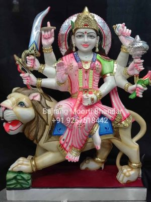 Marble Durga Mata Statue in 2ft