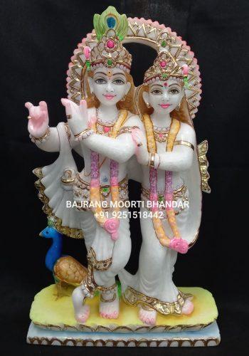 Marble Jugal Radha Krishna Statue Online