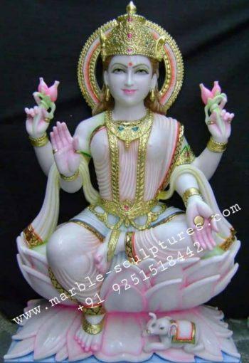 Marble Lakshmi maa Statue