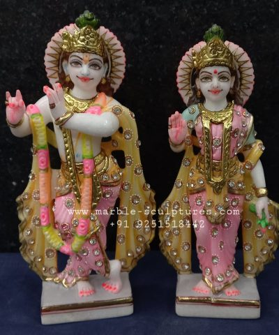 Radha Krishna Marble Murti for Home