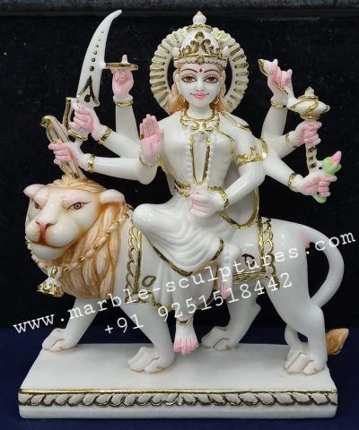 Small Marble Durga Statue