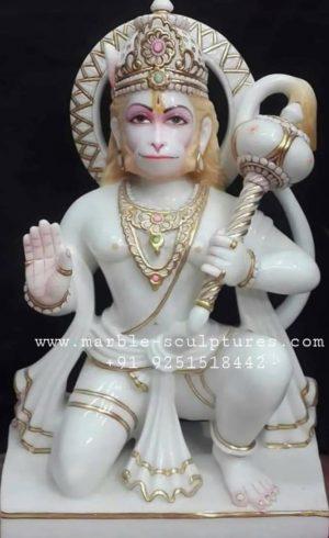 ashirwad Hanuman Marble Murti