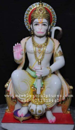 ashirwad marble hanuman statue