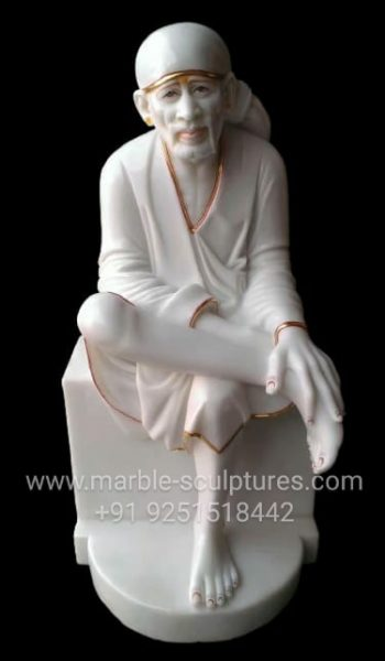 Big Marble Sai Baba Statue
